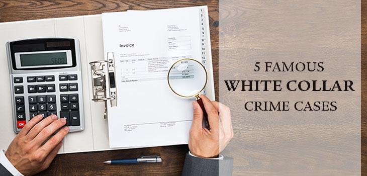 Man investigating a white collar crime