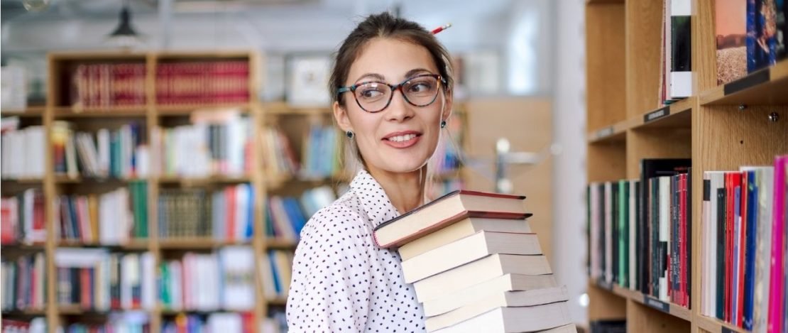 Online English Degree | Woman with Books